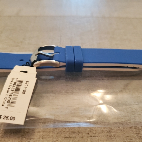 Fossil Jewelry - Fossil watch strap size 20 blue white